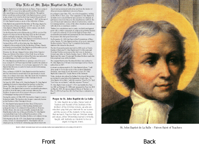John Baptist de La Salle and a Prayer to St. John Baptist de La Salle